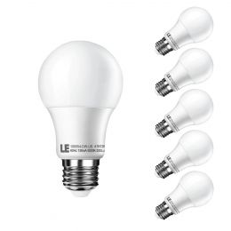 Pack of 6 Units, 10W A19 E26 LED bulb, Daylight White, 60W Incandescent Bulb Equivalent, 830lm Golf Ball Lamp