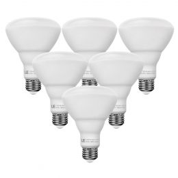 15W BR30 Dimmable E26 LED Bulbs, 1210lm Warm White, 110' Flood Beam LED Recessed Can Lights, 75W Incandescent Equivalent, Pack of 6 Units