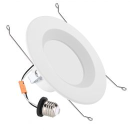 6-Inch 15W Warm White LED Recessed Ceiling Lights- UL Listed 1100lm E26 Base LED Downlight