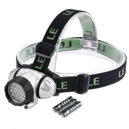 Super Bright LED Headlamps- 18 White LED and 2 Red LED