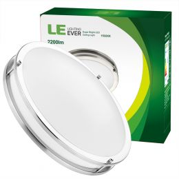 Dimmable 26W 16-Inch Flush Mount LED Ceiling Light- 2200 Lumen[200W Incandescent Equivalent]
