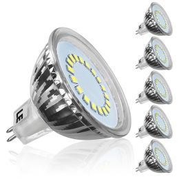 Pack of 5 Units, 3.5W MR16 GU5.3 LED Bulbs, 12V DC Only, 35W Halogen Bulbs Equiv, 280lm, Daylight White