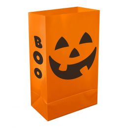 Plastic Luminaria Bag - Orange JOL