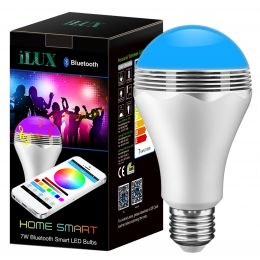 Bluetooth Smart LED Light Bulb with Speaker, Dimmable Multi-Color Changing Lights, Smartphone Controlled RGB Bulb